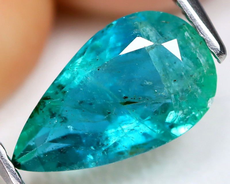 Zambian Emerald 1.65Ct Pear Cut Natural Green Color Zambian Emerald C1408