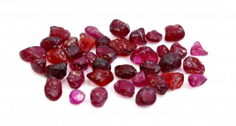 NR!!! 51.25 CTs Natural - Unheated Purple Garnet Rough Lot