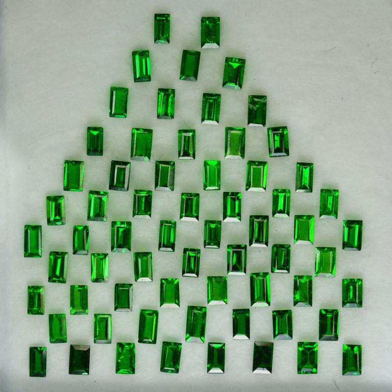 5.10 Cts Natural Top Green Tsavorite Garnet 3 X 2.00mm Baguette Parcel Keny