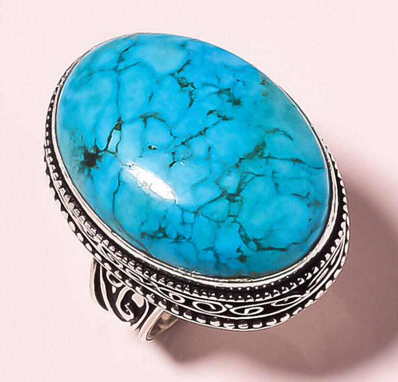 NEW ARRIVAL Tibetan Turquoise Vintage Style  Ring S.8.50