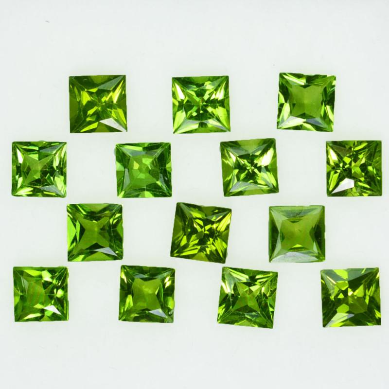 10.00Ct Natural Green Peridot 8mm Square Princess 5mm Parcel