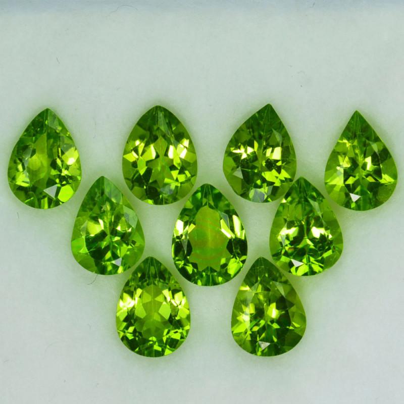 10.05Ct Natural Green Peridot 8 X 6mm Pear Parcel
