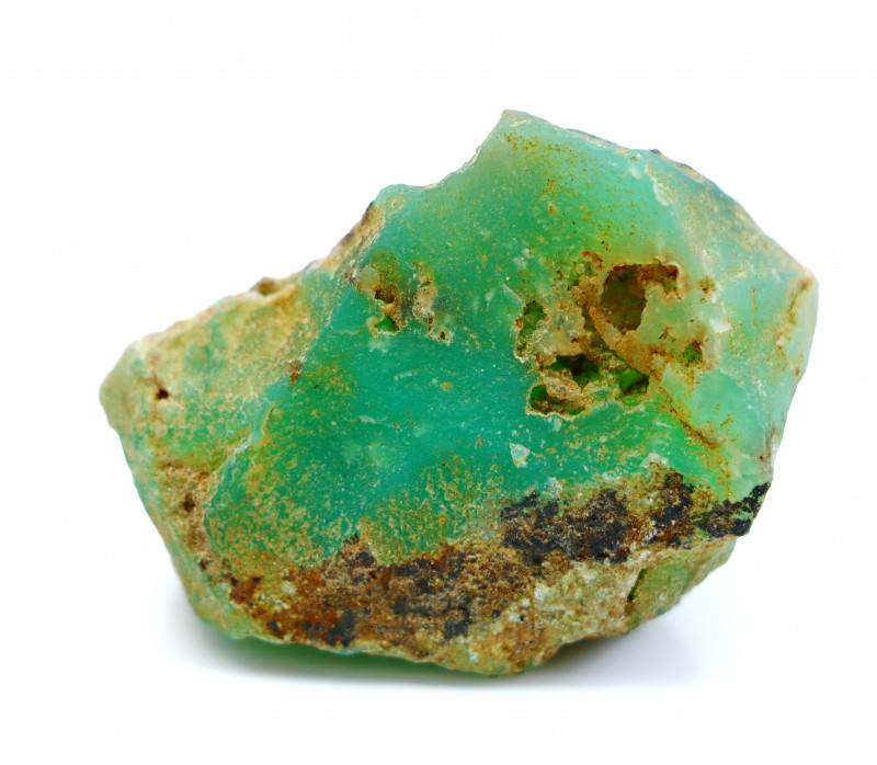150.80 CT Natural - Unheated Green Chrysoprase Rough