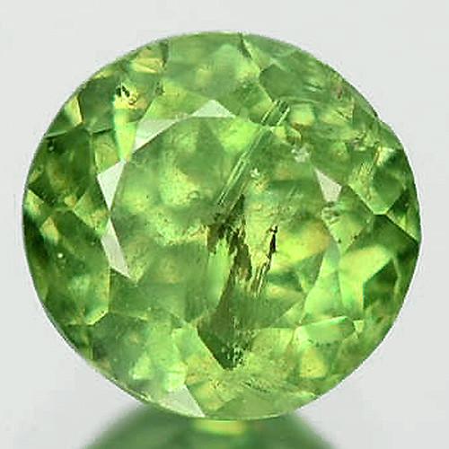 0.48 Cts Untreated Rare Green Color Natural Demantoid Garnet Gemstone