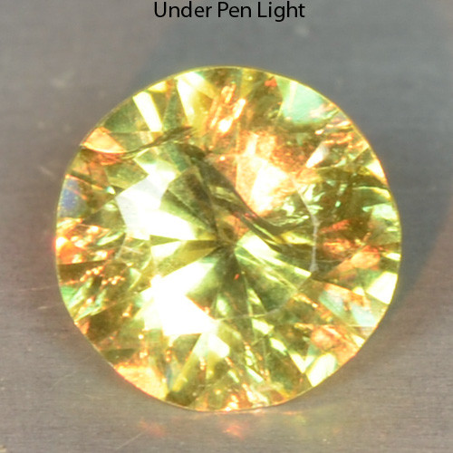0.30 Cts Untreated Color Changing Natural Demantoid Garnet Gemstone