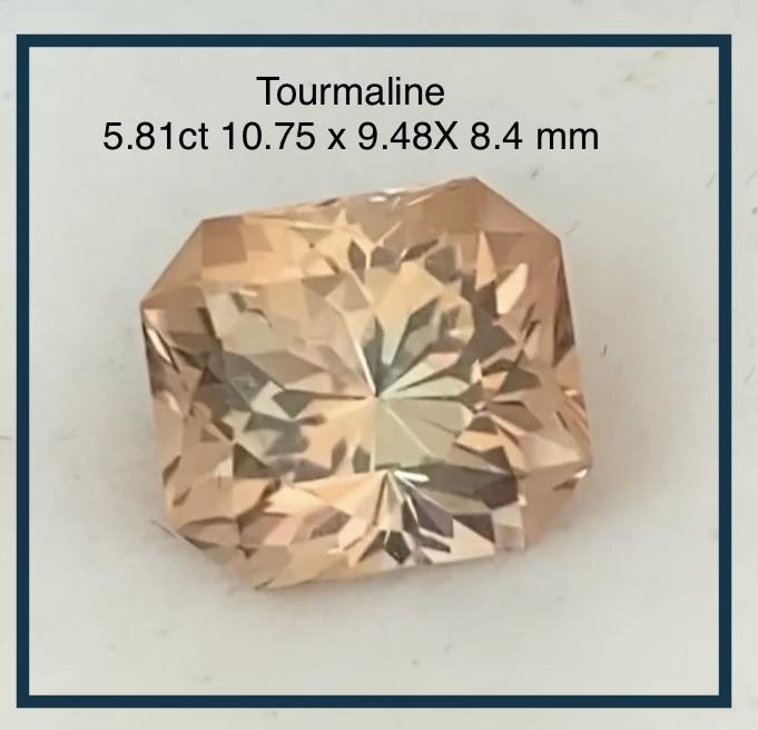 Glowing Precision Cut 5.8 ct Peach Tourmaline - Congo