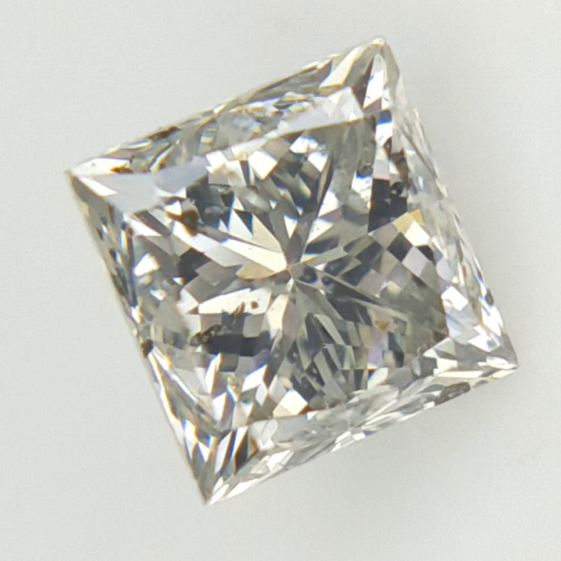 0.42 cts , Natural Diamond , Princess Brilliant Cut