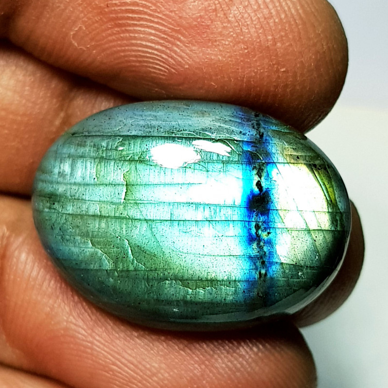 24.20 ct Natural Labradorite Oval Cabochon  Gemstone