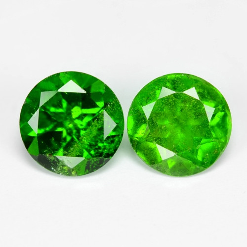 *No Reserved* Chrome Diopside1.68 Cts 2pcs Natural Green  Loose Gemstone