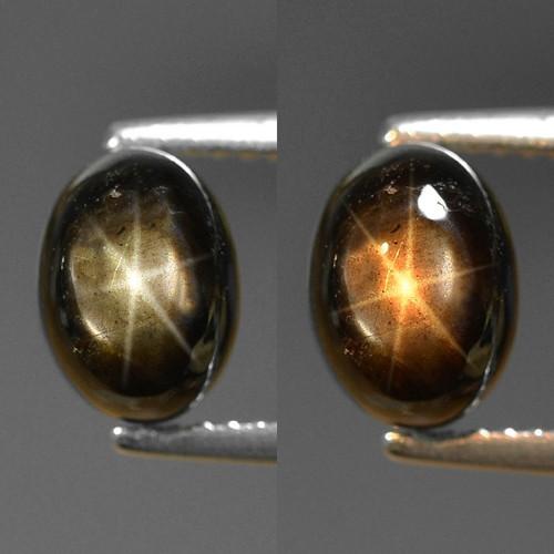 3.50 Cts Natural Black Star Sapphire Gemstone