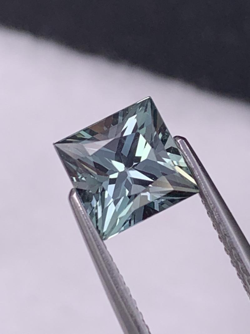 Certified 2.40 Cts Amazing Quality VVS Princess Custom Cut Natural Sapphire