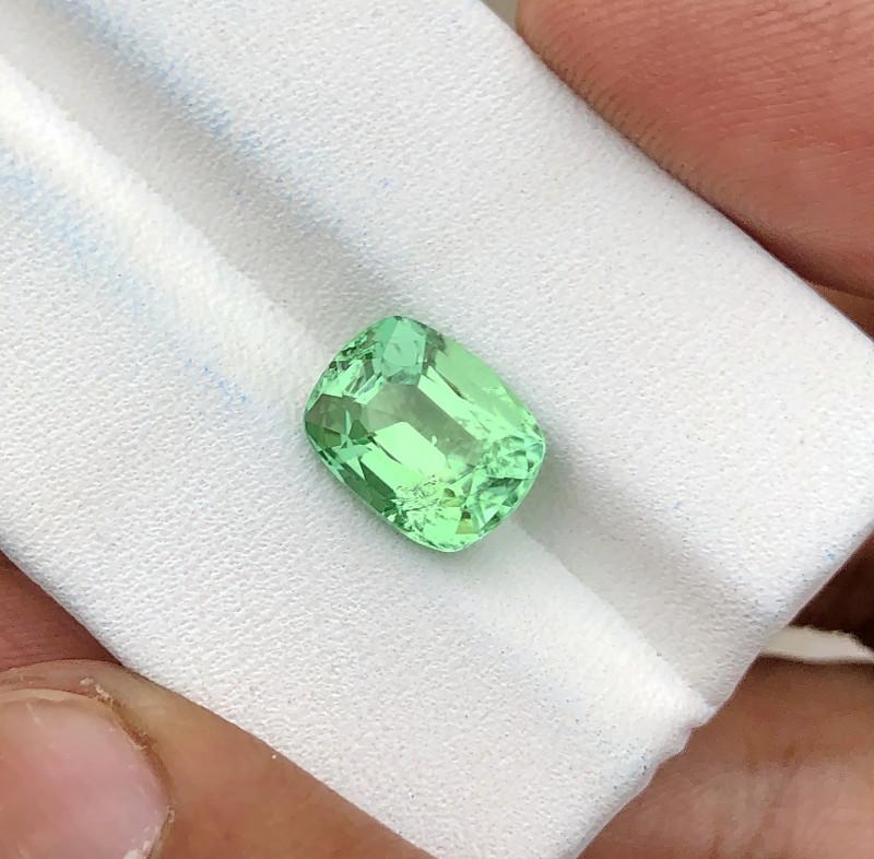 3.45 Ct Natural Green Transparent Tourmaline Ring Size Gemstone (N04)