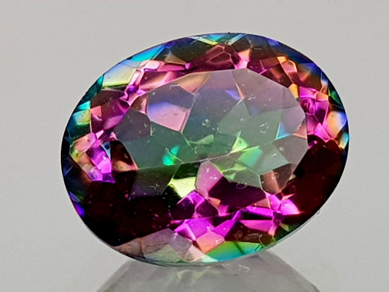 2.43Crt Mystic Quartz Natural Gemstones JI09