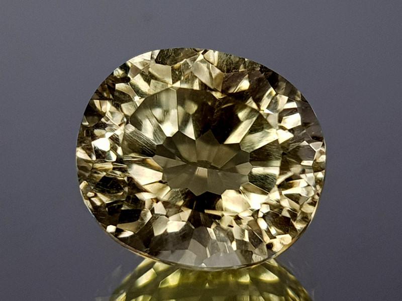 3.61Crt Lemon Quartz Concave Cut Natural Gemstones JI09