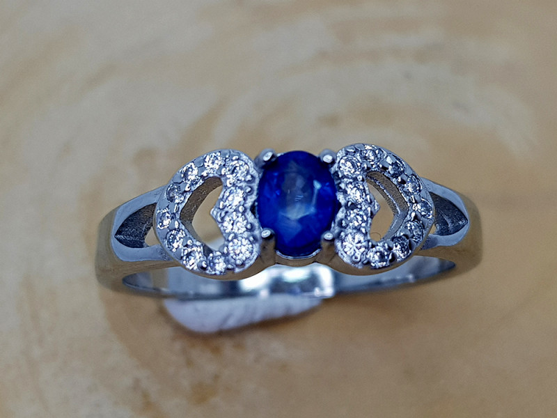 15CT SAPPHIRE 925 SILVER RING 8.5  BEST QUALITY GEMSTONE IIGC34