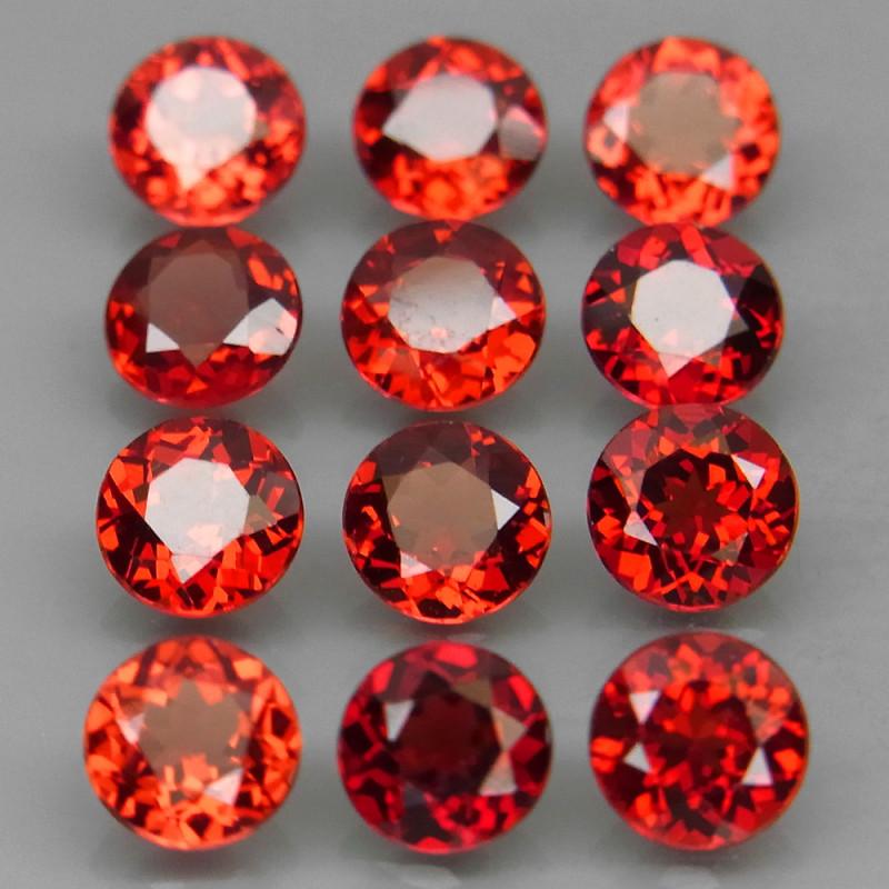 6.99 ct. Natural Earth Mined Rhodolite Garnet Africa - 12 Pcs
