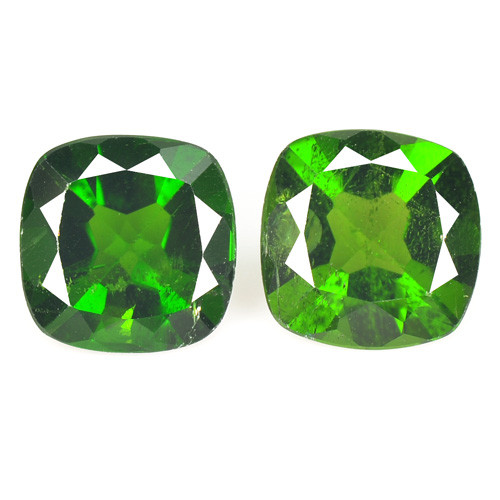 2.91 Cts 2 Pcs Natural Green Color Chrome Diopside Loose Gemstone