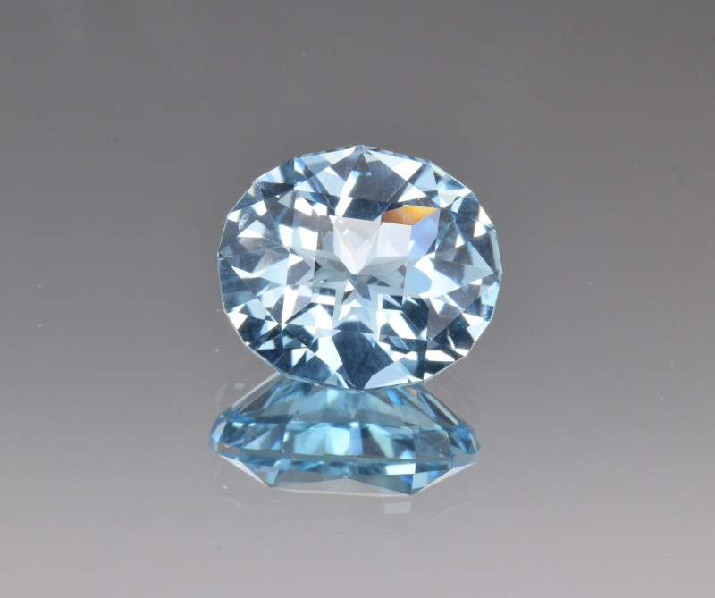 Natural Blue Topaz 10.87 Cts Perfect Precision Cut