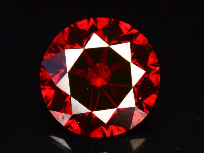 JGI Certified 0.66  ct Natural Red Diamond Round Brilliant Cut t