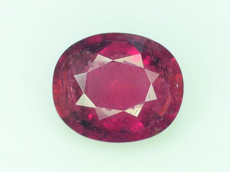 AAA Color 1.45 ct Rubelite Tourmaline~K