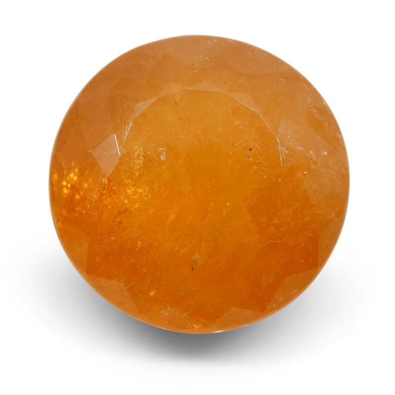 10.80ct Round Fanta Orange Spessartite/Spessartine Garnet