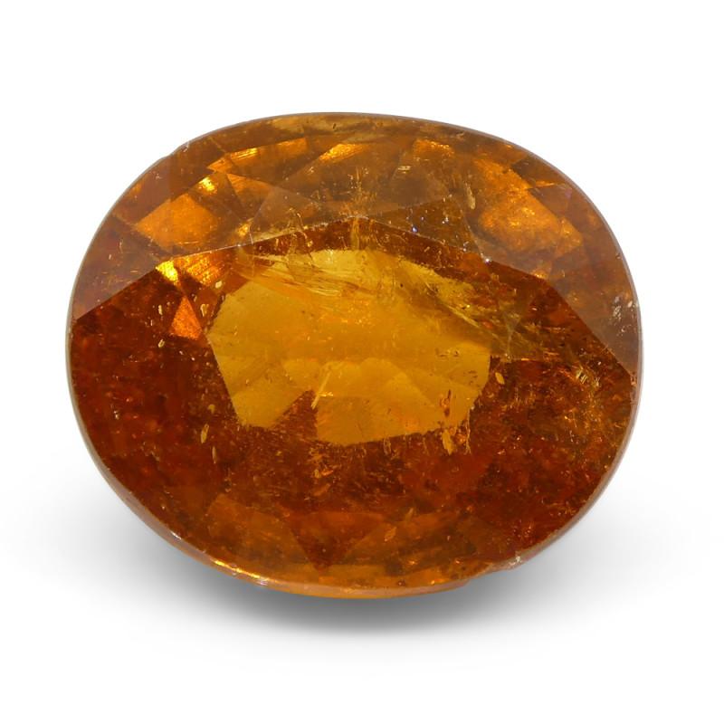 5.77ct Oval Fanta Orange Spessartite/Spessartine Garnet