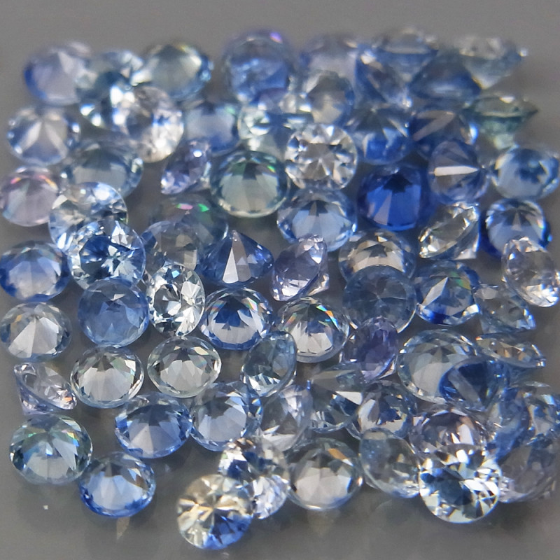 3.91Ct/ 85Pcs/2.0-2.2 mm. Natural Earth Mined Cornflower Blue Sapphire