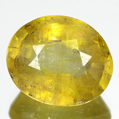 3.35 Cts Rare Fancy Yellow Sapphire Natural Gemstone