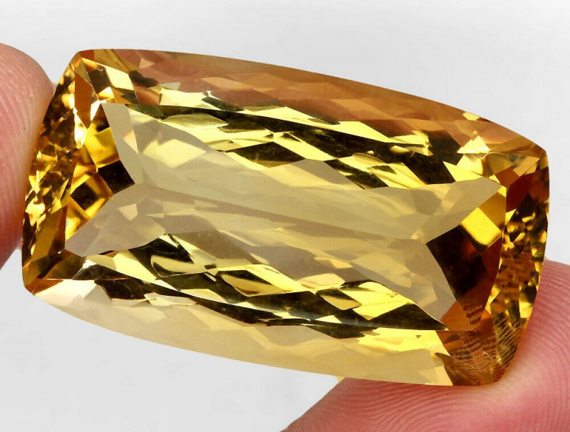 99.84 ct. 100% Natural Unheated Top Quality Yellow Golden Citrine Brazil