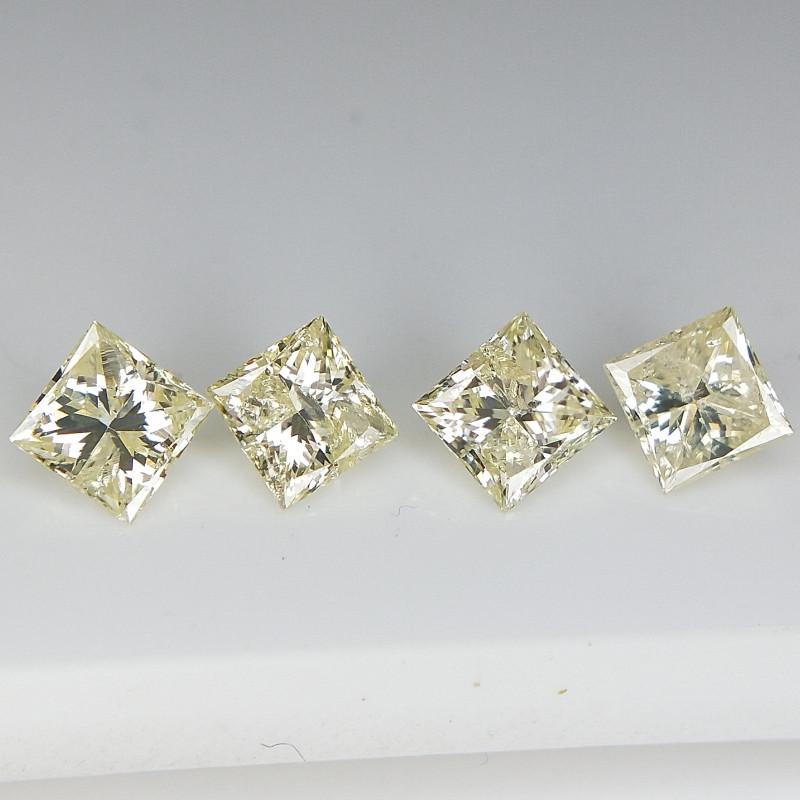 0.71 cts , 4 pc Princess Diamond , Pair Diamond for Jewelry
