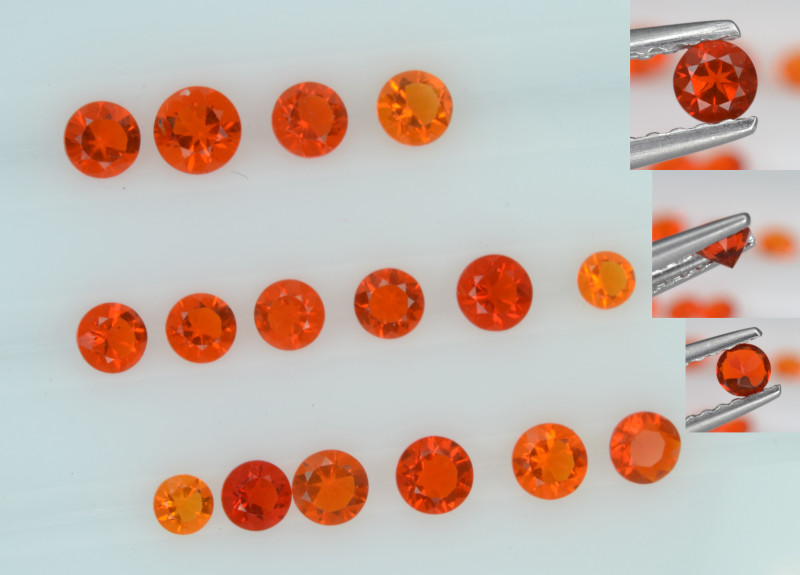 Natural Fire Opal 0.86 Cts Small Sizes from Mexico