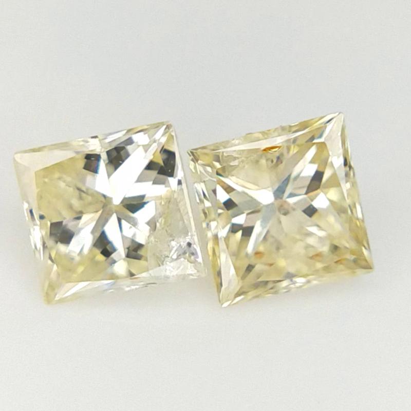 0.33 ct , Diamond Pair , Yellow Diamond Pair
