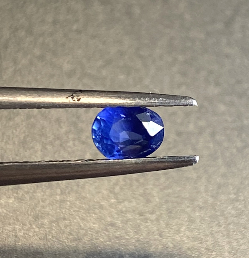 0.43ct unheated vivid blue sapphire