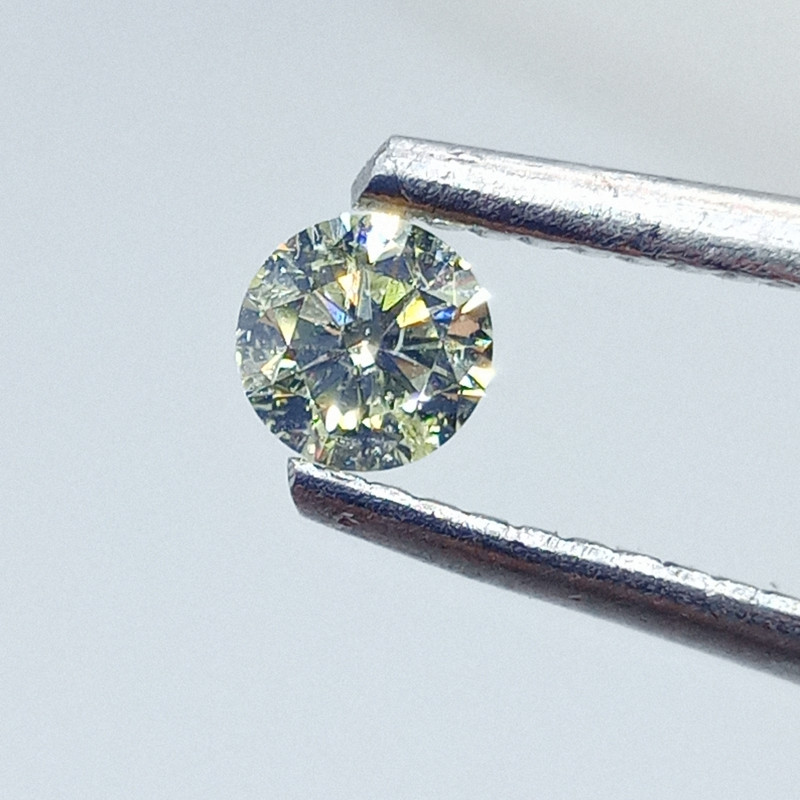 0.27ct Fancy Light  Yellow  Diamond , 100% Natural Untreated