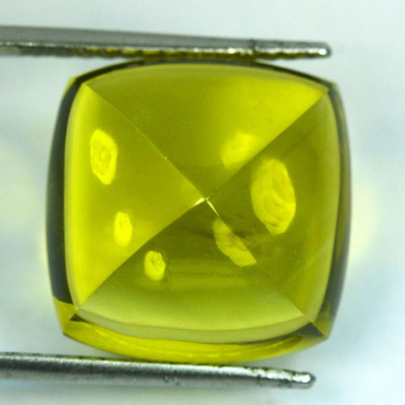 27.81Cts Natural Prasiolite Lemon Green Sugar Loaf 18mm
