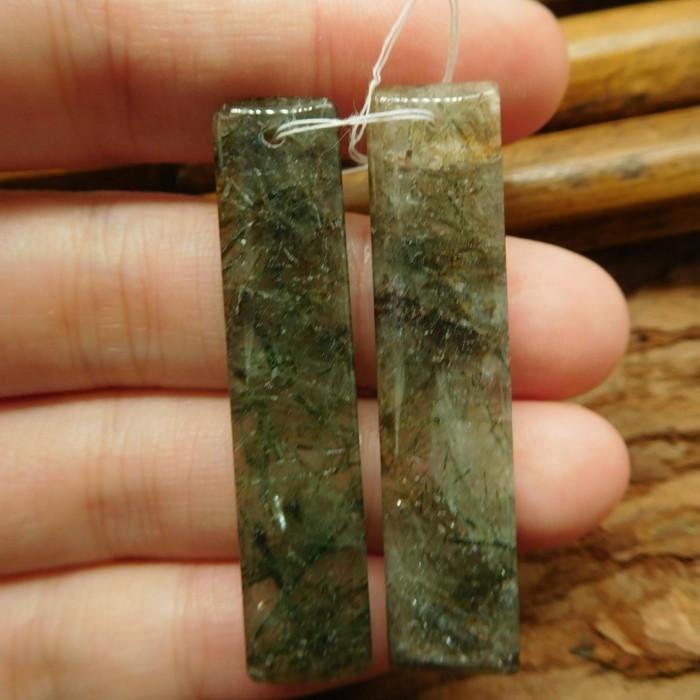 Long jasper earring bead (G2307)