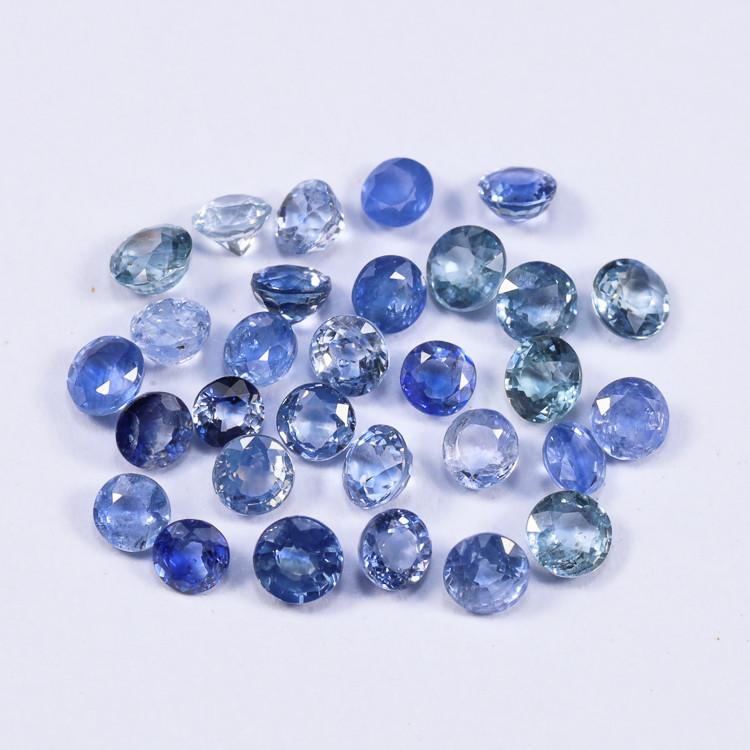5tcw Natural Blue 3.3mm Round Ceylon Sapphire Parcel
