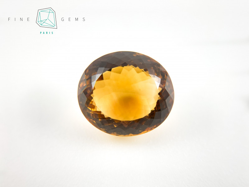 20.91 carats Natural Citrine Oval cut