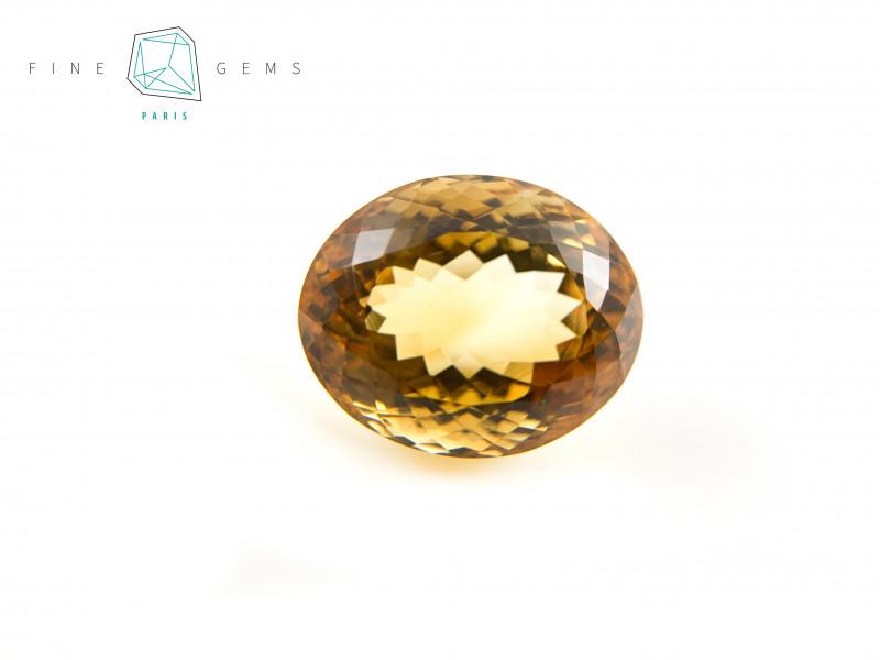 22.18 carats Natural Citrine Oval cut