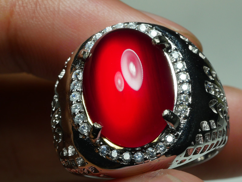 61.220crt BEAUTY RED CARNELIAN AGATE RING