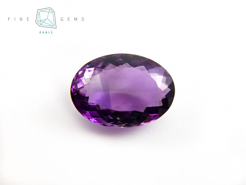 20.77 carats Natural Amethyst Purple  Gemstone  Octa Mixed cut