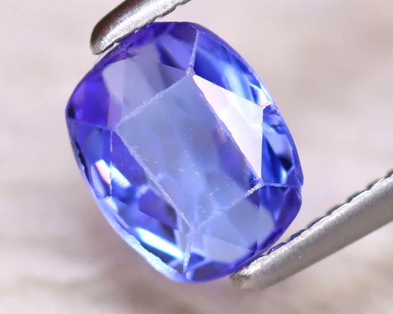 Tanzanite 1.04Ct Natural VVS Purplish Blue Tanzanite EF2816/D3