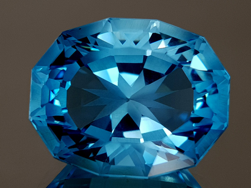 27.23CT NATURAL BLUE TOPAZ PRECISION CUT IGCTPP16