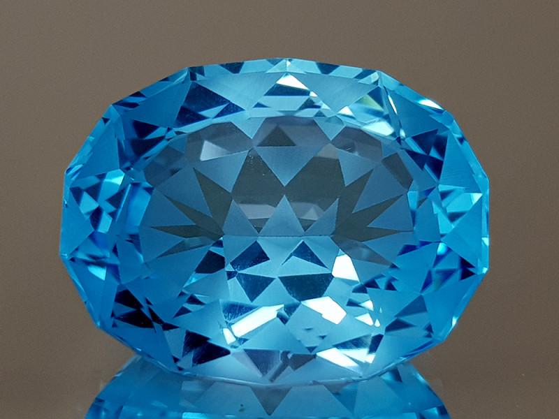 20.29CT NATURAL BLUE TOPAZ PRECISION CUT IGCTPP17