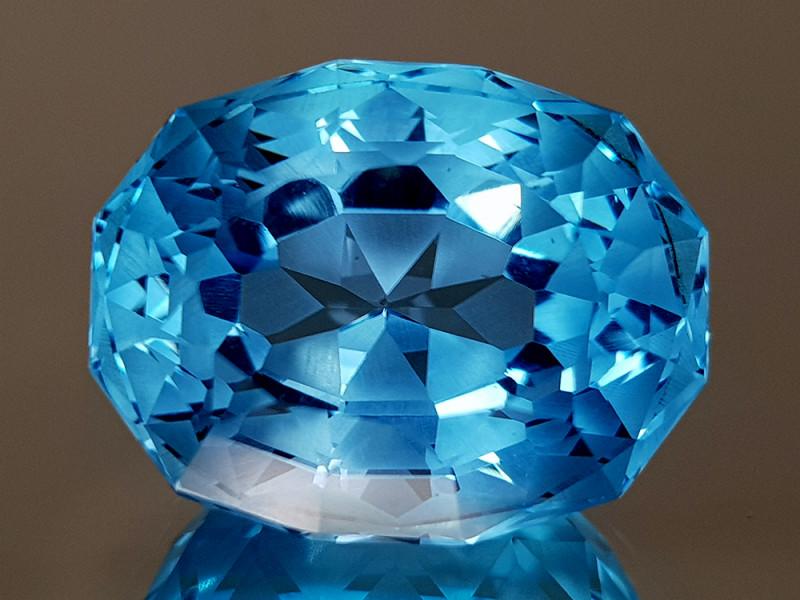 23.55CT NATURAL BLUE TOPAZ PRECISION CUT IGCTPP25
