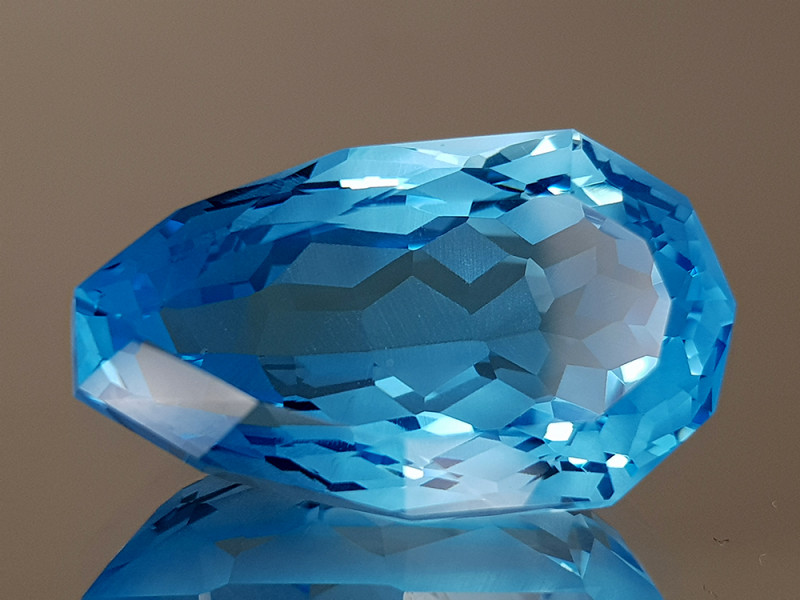 15.92CT NATURAL BLUE TOPAZ PRECISION CUT IGCTPP36