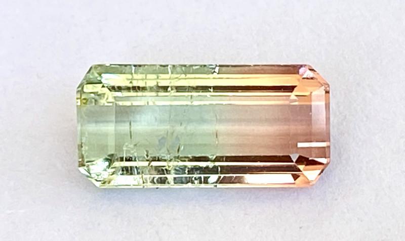 5.03Ct Tourmaline Bi-Colour Beautiful Faceted Gemstone. BTM 02