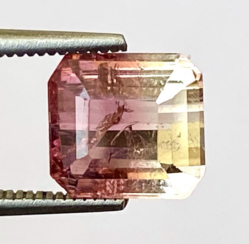 2.48Ct Tourmaline Bi-Colour Beautiful Faceted Gemstone. BTM 06