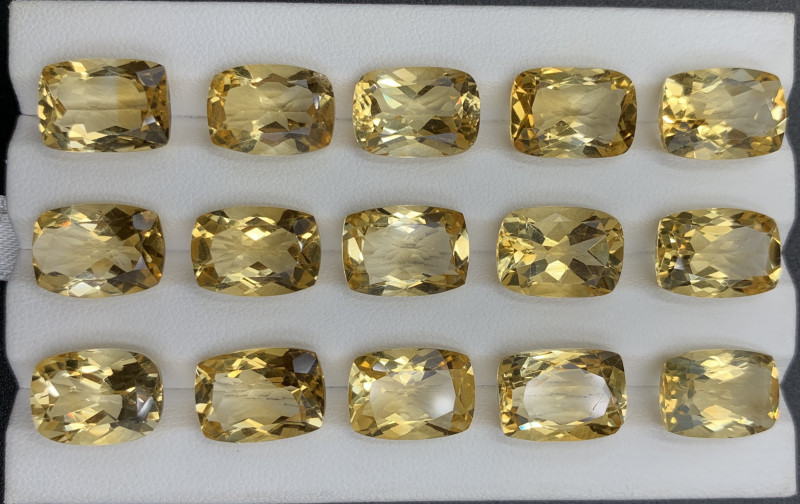 96.15 ct Citrine  Gemstones Parcel/15 pc