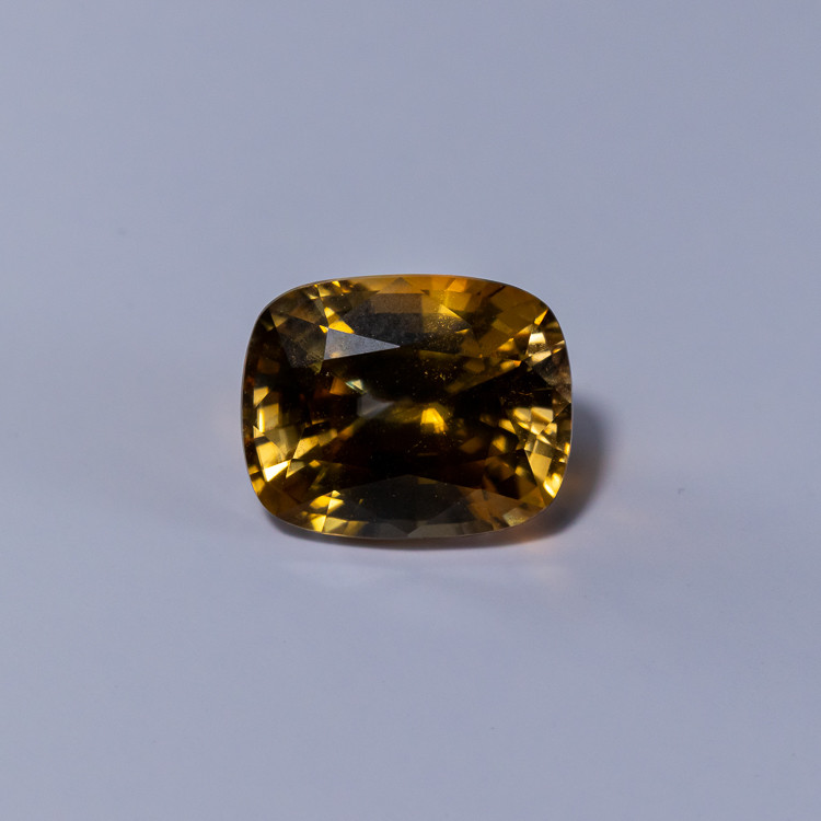 8.13ct. Lab Certified Yellow Cambodian Zircon